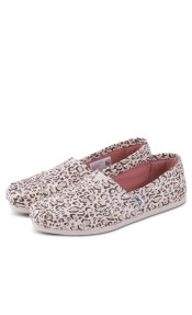TOMS SHOES CLASSIC NATURAL BOBCAT WITH GOLD FOIL 10009715 Πολύχρωμο