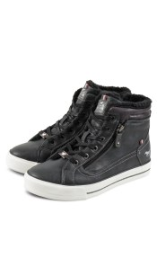 Mustang Damen High Top Sneaker 1288601 Ανθρακί