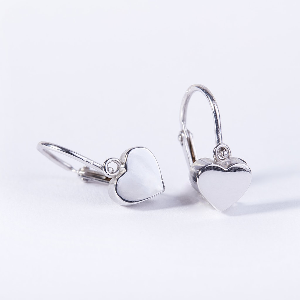 KLENOTA  Kinder Ohrringe in Herzform Weigold  Ohrringe Weigold  Schmuck  mit Liebe gemacht