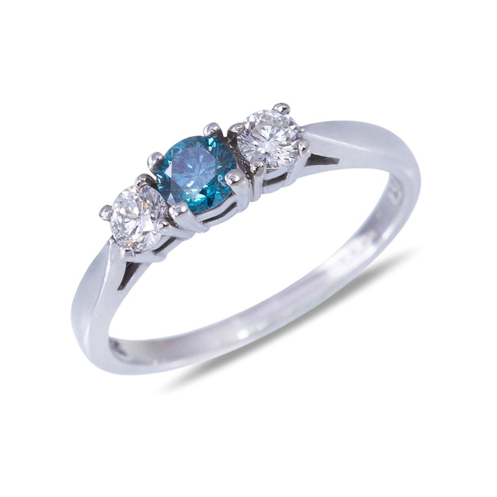 KLENOTA  Ring aus Weigold mit Diamant  Ringe Diamant