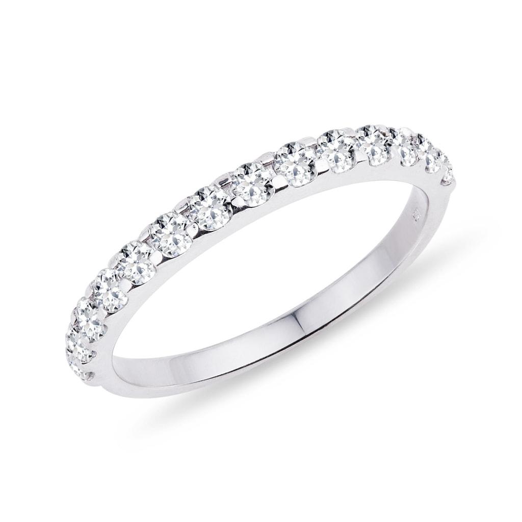 Trauring aus Weigold mit Diamant  KLENOTA