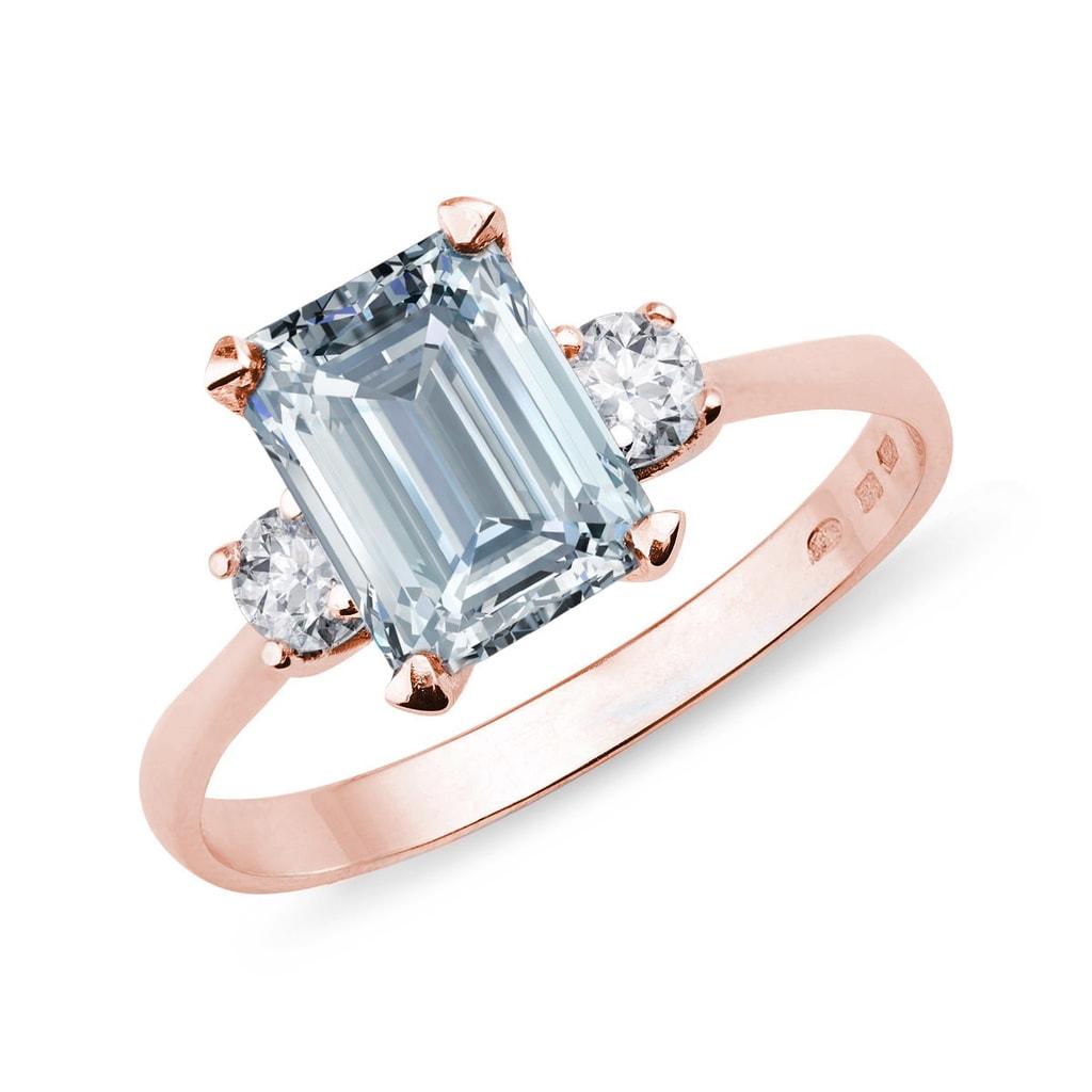 KLENOTA  AquamarinRing mit Diamanten  Ringe Aquamarin  Schmuck  mit Liebe gemacht
