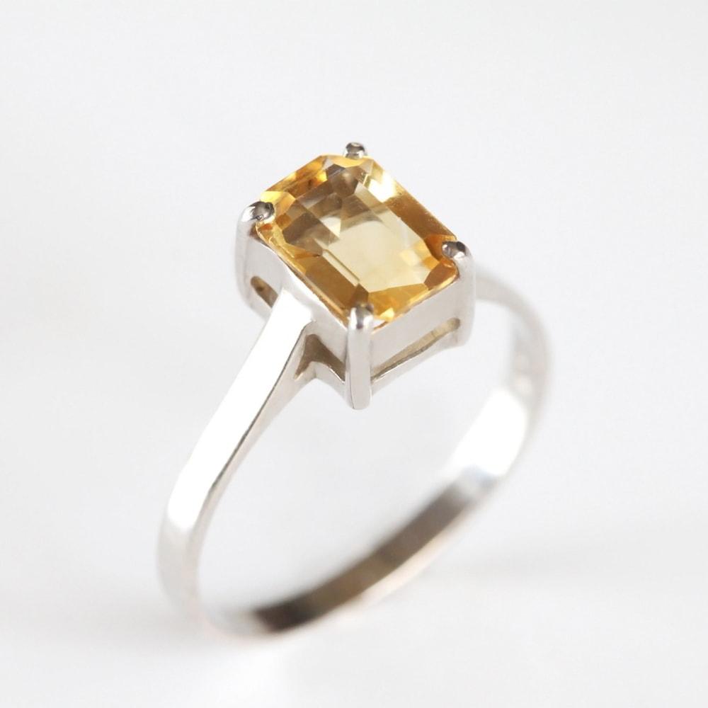 KLENOTA  Silber Ring Citrin  Ringe Silber