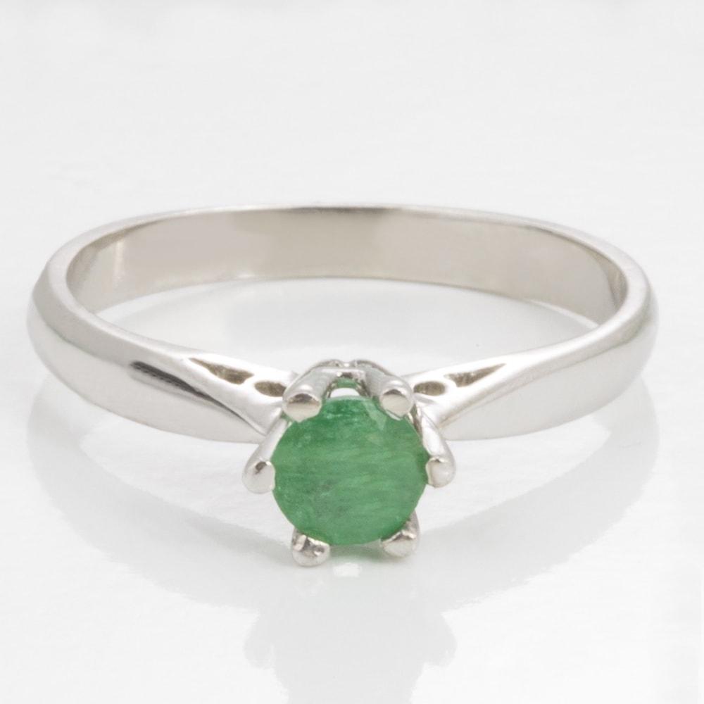 KLENOTA Goldring mit Smaragd Ringe Smaragd