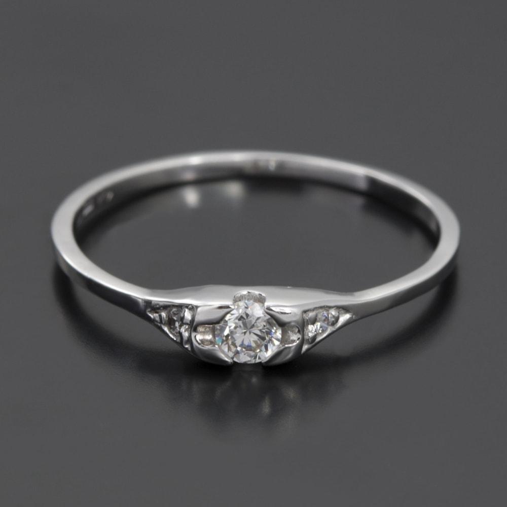 KLENOTA Diamantring Weigold Ringe Diamant