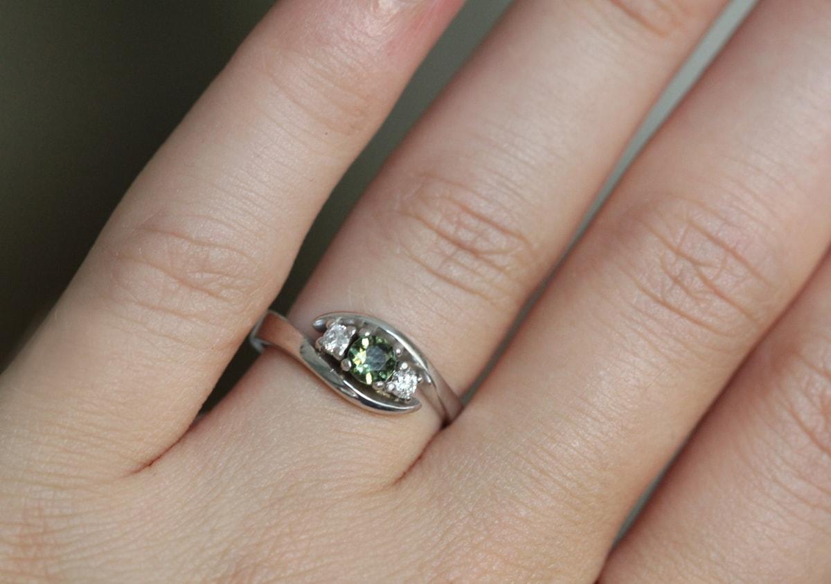 KLENOTA Goldring mit Diamanten Verlobungsringe mit