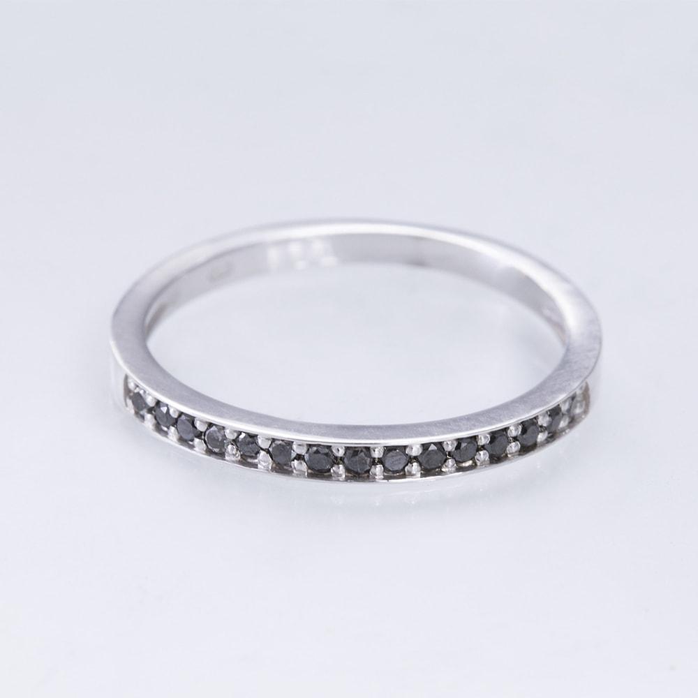 KLENOTA  Goldring mit schwarzen Diamanten  Ringe Diamant