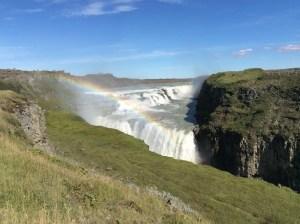 A brave waterfall diving Gullfoss Waterfall, Iceland, Aug 2016