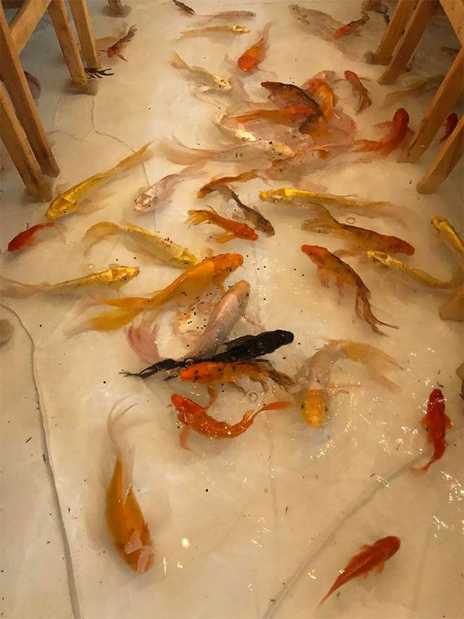 Koi Fish Cafe : Please, Don't, Fish!, Vietnam's, Unique, Flooded