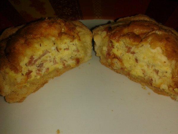 Minis Quiches jambon chêvre