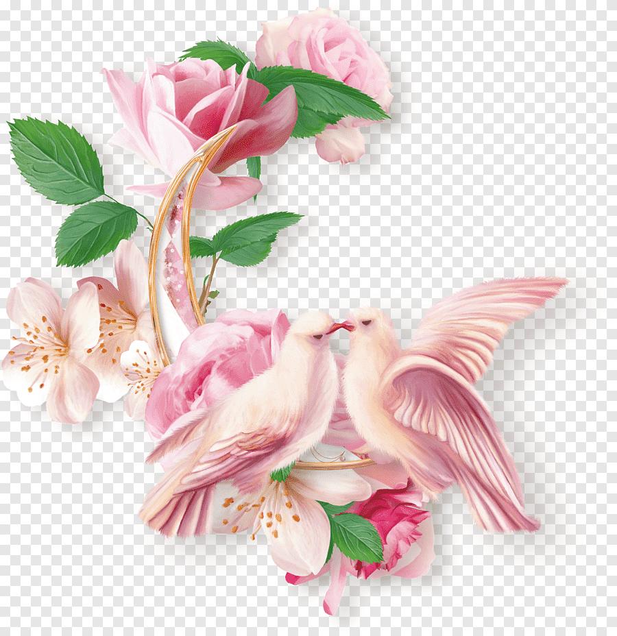 faire part de mariage rose rose