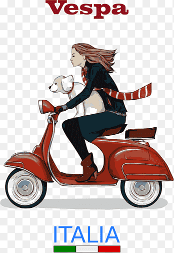 Motor Scoopy Png : motor, scoopy, Scooter, Vespa, Motorcycle,, Scooter,, Poster,, Illustrator, PNGEgg
