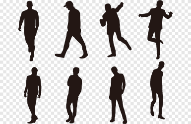 Silhouette of people Silhouette People Silhouette white animals png PNGEgg