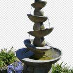 Drinking Fountains The Home Depot Garden Water Feature Png Pngegg