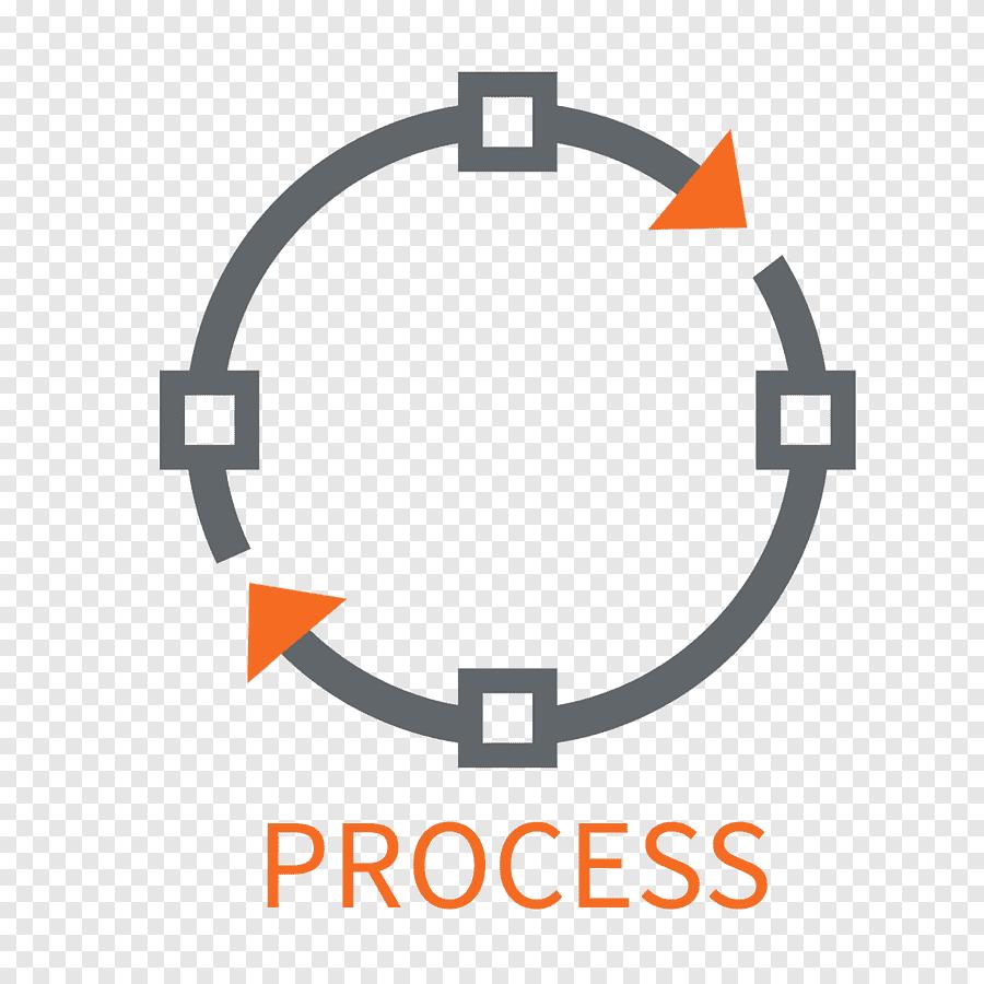 Grey and orange Process illustration, Computer Icons
