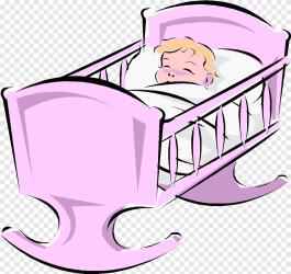Cots Infant Bassinet Child bed purple furniture png PNGEgg
