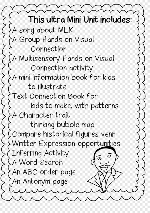 small resolution of Black History Month First grade Martin Luther King Jr. Day Worksheet