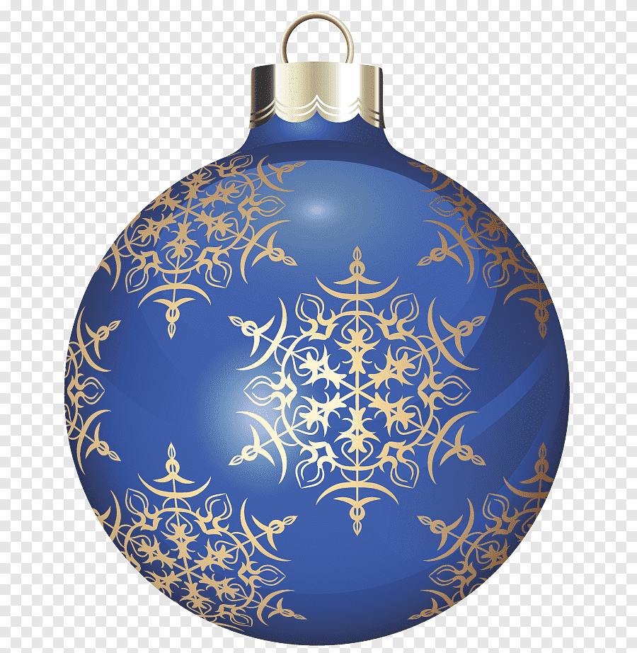 Blue And Gold Colored Floral Bauble Illustration Blue And Gold Christmas Ball Blue Christmas Decoration Png Pngegg