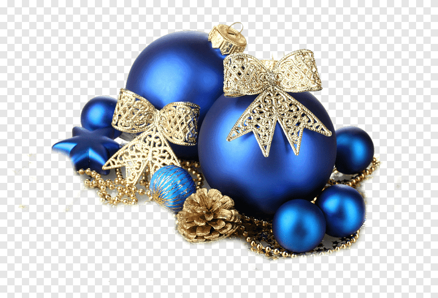 Christmas Decoration Christmas Ornament Blue Gold New Year Gemstone Blue Png Pngegg