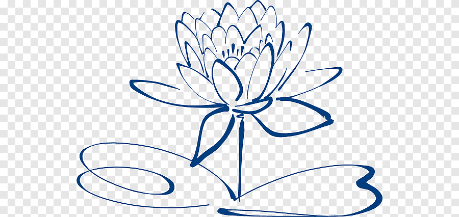 Nelumbo Nucifera Black And White Flower Simple Flower Outline White Leaf Png Pngegg