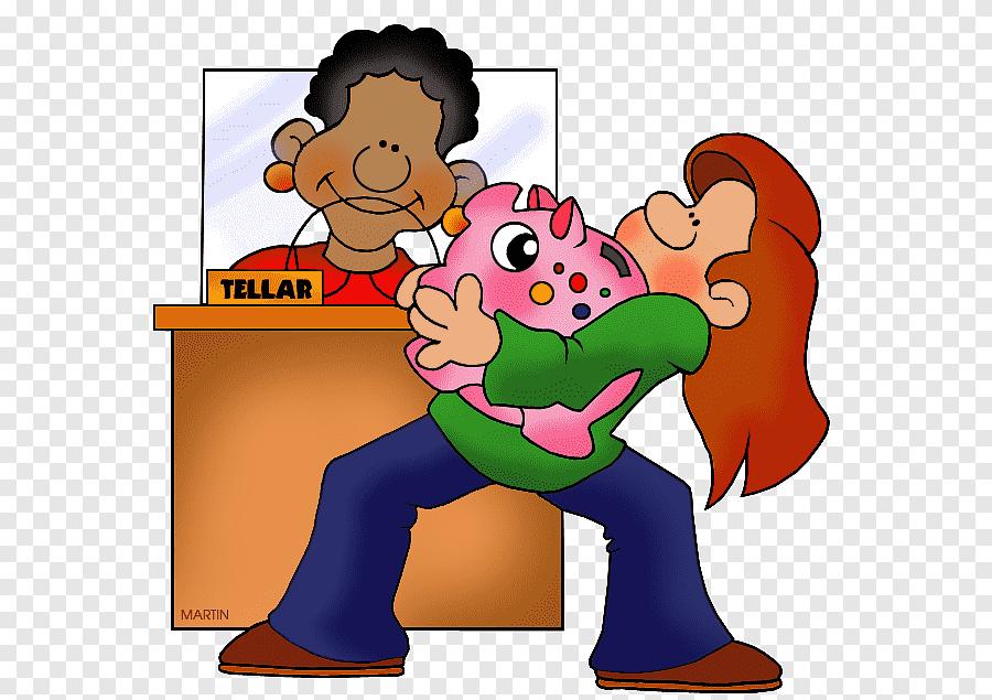 Bank Cashier Bank Account Illustration Bank Saving Child Png Pngegg