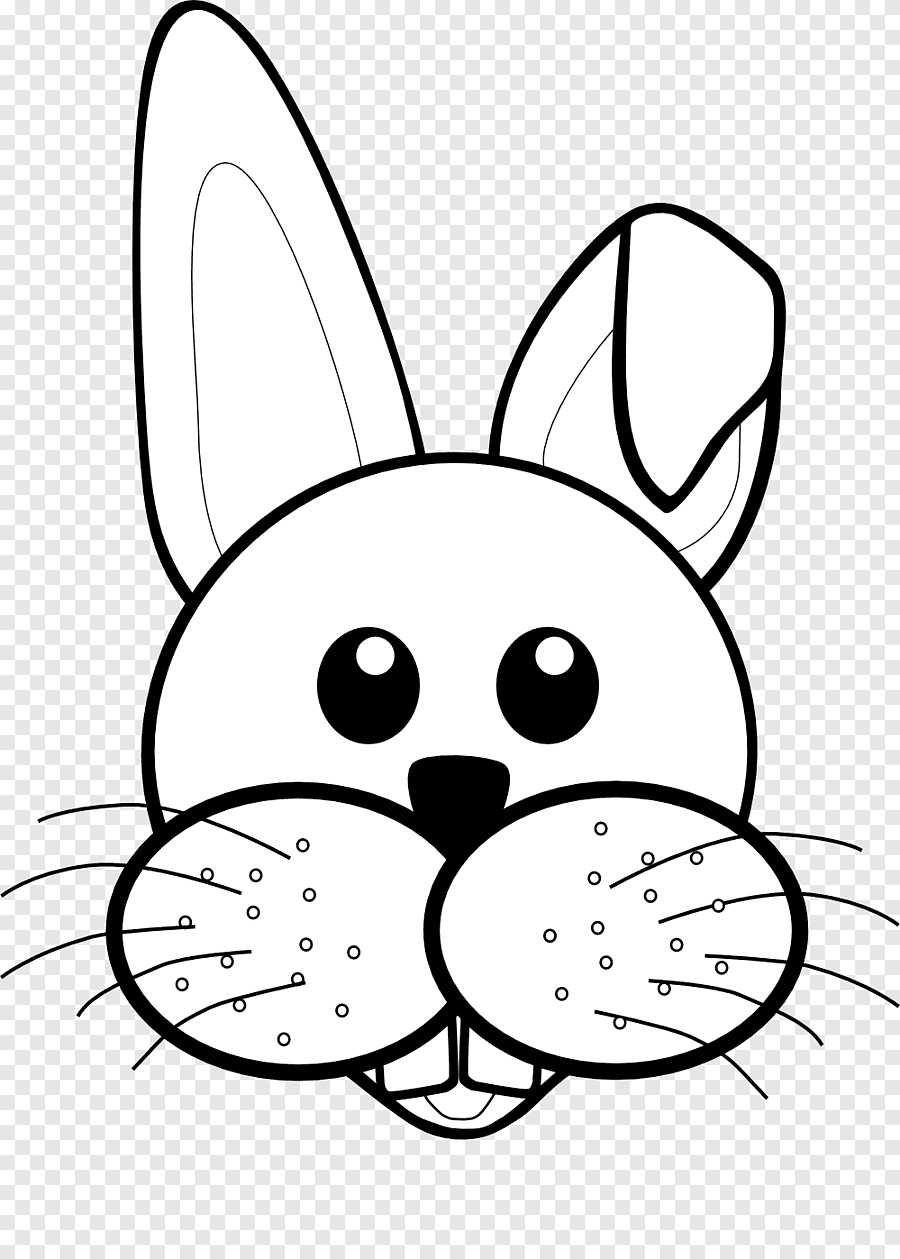 Gambar Kelinci Hitam Putih : gambar, kelinci, hitam, putih, Kelinci, Paskah, Hitam, Putih,, Mamalia, PNGEgg