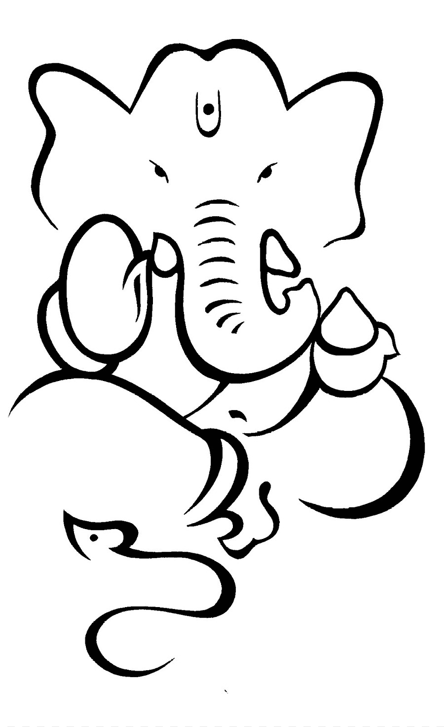 Ganesha Drawing Hinduism Deity Sketch Ganesha Outline White Mammal Png Pngegg