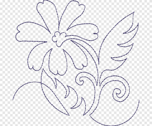 Floral design Quilting Machine embroidery Pattern design white monochrome png PNGEgg