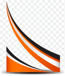 Curve Line Orange simple curve border red white and black graphic border texture png PNGEgg