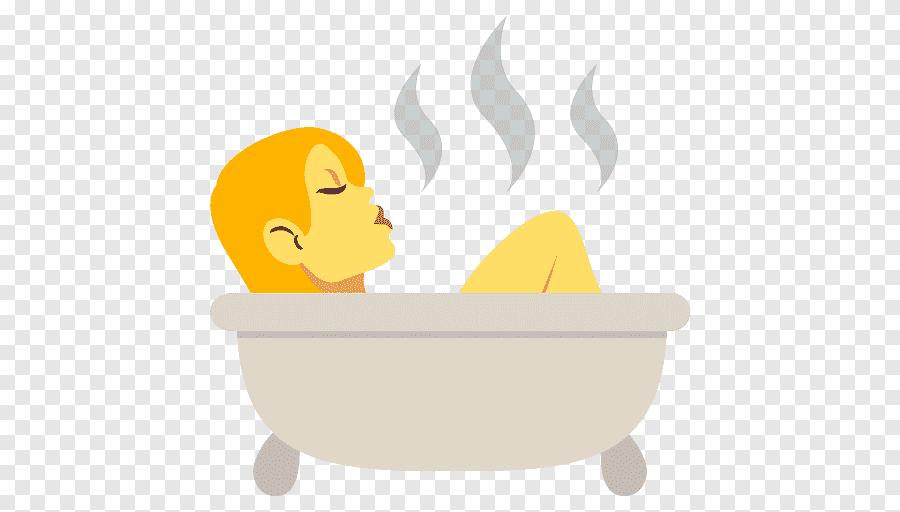 Emoji Smiley Emoticon Bathtub Kamar Mandi Emoji Furnitur Makanan Png Pngegg