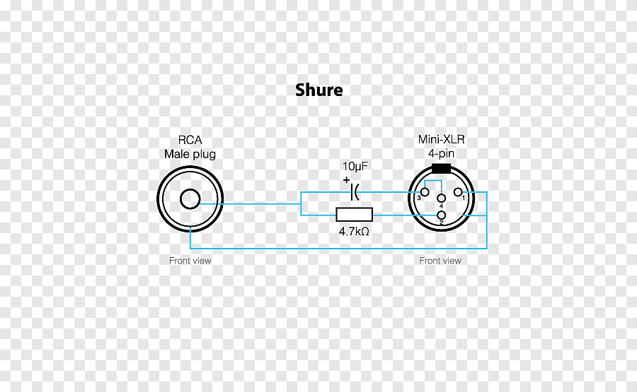 Microphone Shure SM58 XLR connector Wiring diagram Pinout