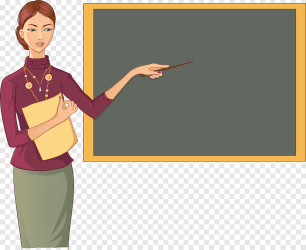 Teacher holding pen on board School teacher Blackboard Classroom Cartoon teacher cartoon Character text png PNGEgg