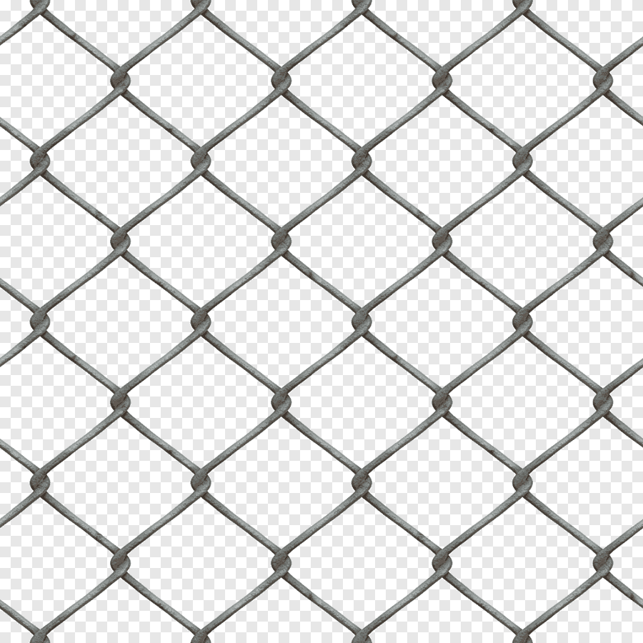 Chain-link fencing Grille Fence, Fence, texture, angle png