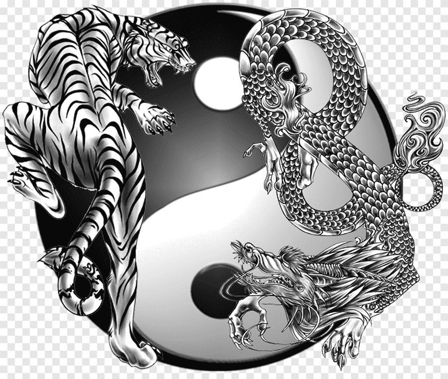 Tattoo Yin Yang Tigre Y Dragon - Novocom.top