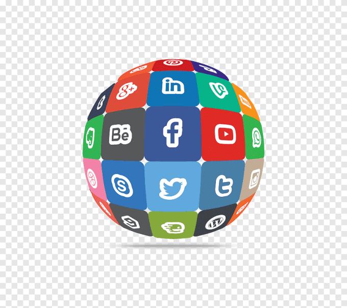 Multicolored Social Media Website Globe Illustration Social Media Optimization Social Networking Service Blog Icon Social Network Computer Network Globe Png Pngegg