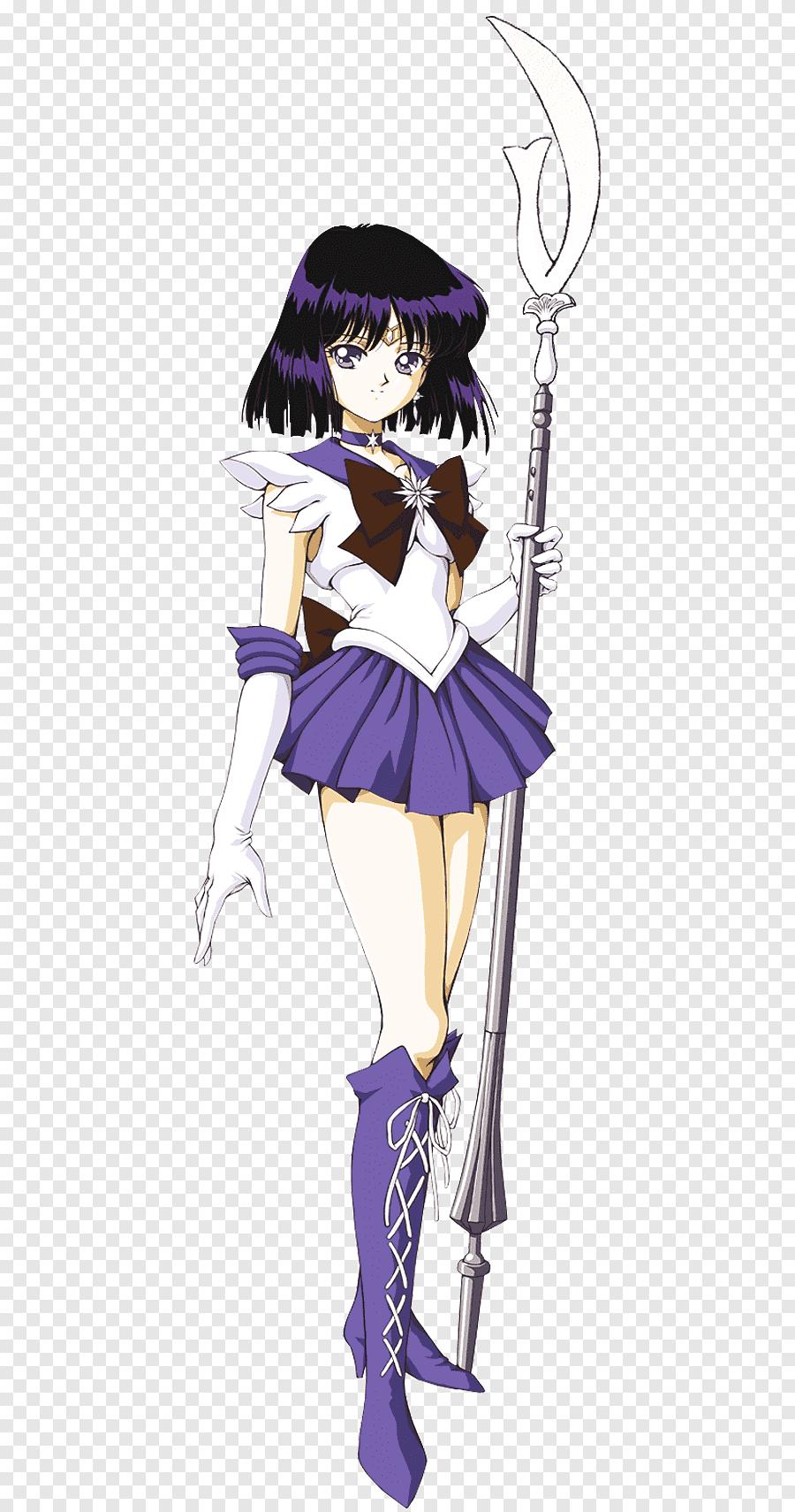 Sailor Saturn Sailor Moon Sailor Neptune Sailor Mercury Sailor Jupiter. Sailor Saturn. purple. black Hair png | PNGEgg