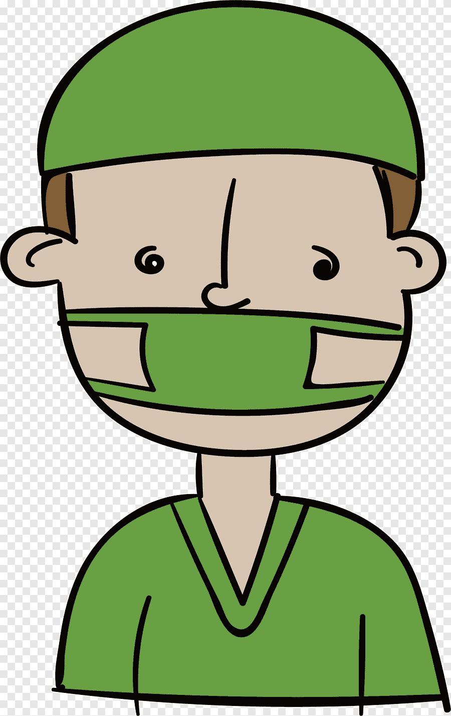 Gambar Animasi Orang Pakai Masker Png : gambar, animasi, orang, pakai, masker, Doctor, Wears, Mask,, Hand,, People, PNGEgg