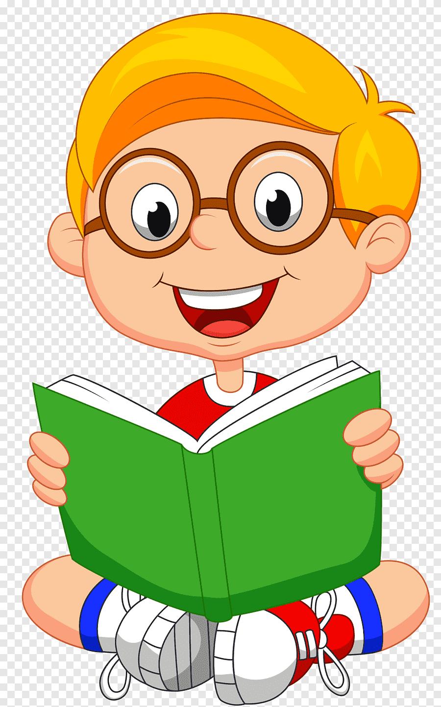 Kartun Anak Membaca Buku : kartun, membaca, Membaca, Buku,, Anak,, Tangan, PNGEgg