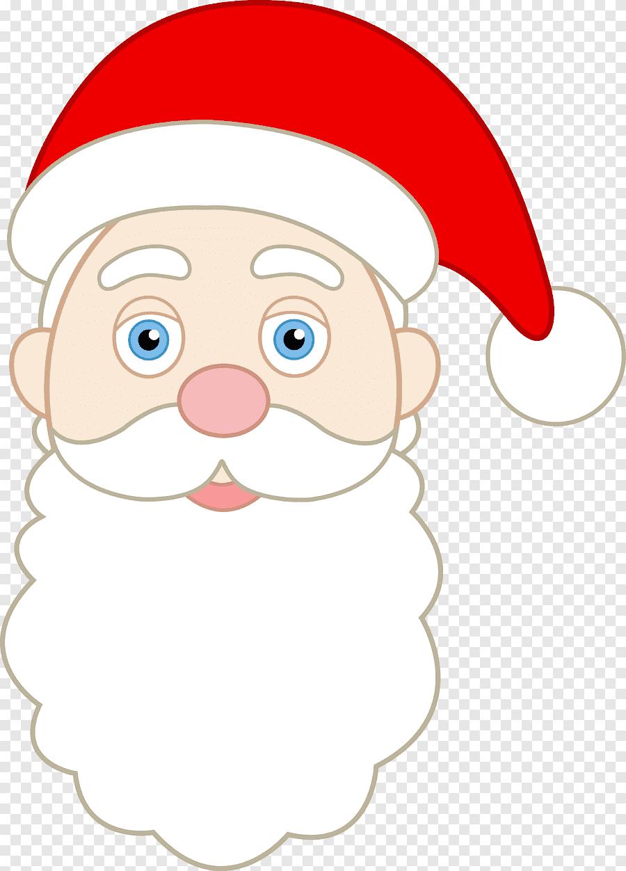 Cartoon Santa Face : cartoon, santa, Santa, Claus, Smiley,, Cartoon, Face,, White,, PNGEgg