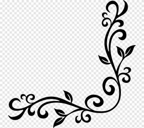 Black border illustration Borders and Frames Baroque Ornament Decorative arts grecas leaf text png PNGEgg