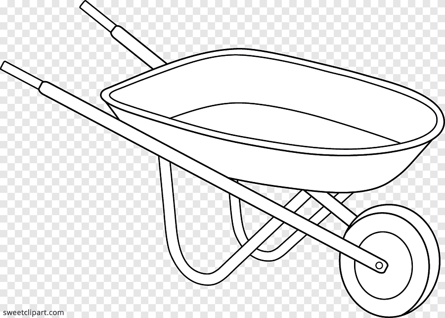photo How To Draw A Simple Wheelbarrow wheelbarrow line art drawing garden