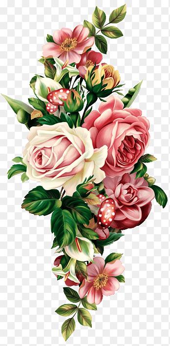 Vintage Bunga Png : vintage, bunga, Vintage, Floral, Botanical, Free,, Retro,, Flowers, PNGEgg