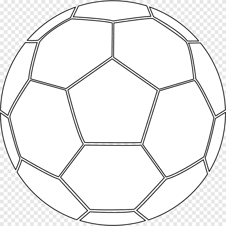Colouring Pages Coloring Book Football Pitch Ball White Symmetry Png Pngegg