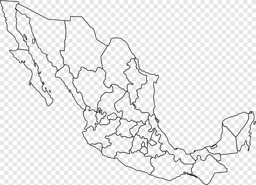 Mexico estados unidos mapa en blanco mapa polityczna