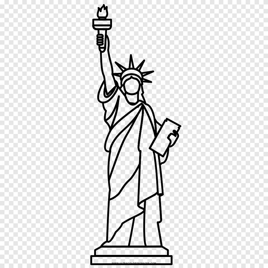 Statue Of Liberty Christ The Redeemer Drawing Painting Statue Of Liberty White Hand Png Pngegg
