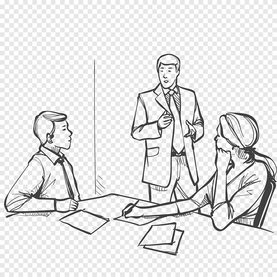 Two Men And Woman Illustration Meeting Business Drawing Illustration Illustration Of Business Meeting Business Woman White Png Pngegg