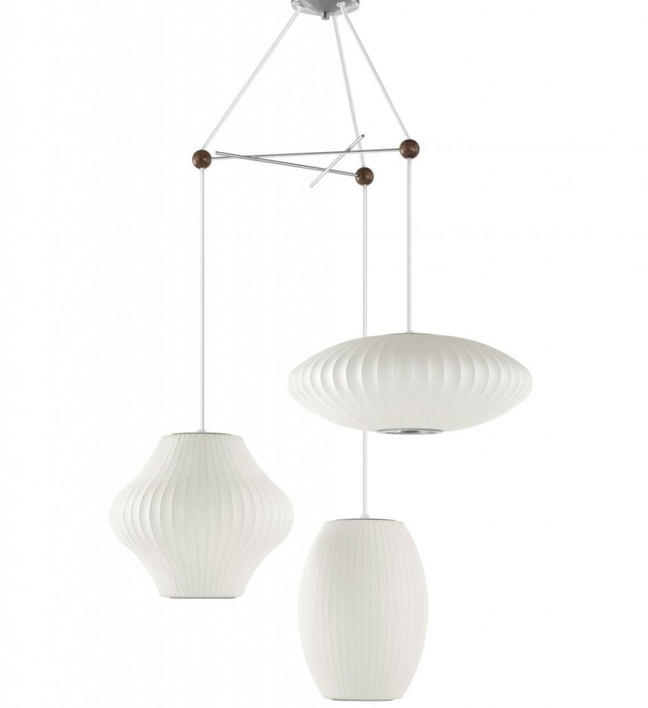 herman miller nelson triple bubble lamp fixture the century house madison wi