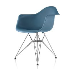 Stressless Chairs Reviews White Wood Counter Height Hermanmiller® Eames® Plastic Armchair (wire Base) - The Century House Madison, Wi