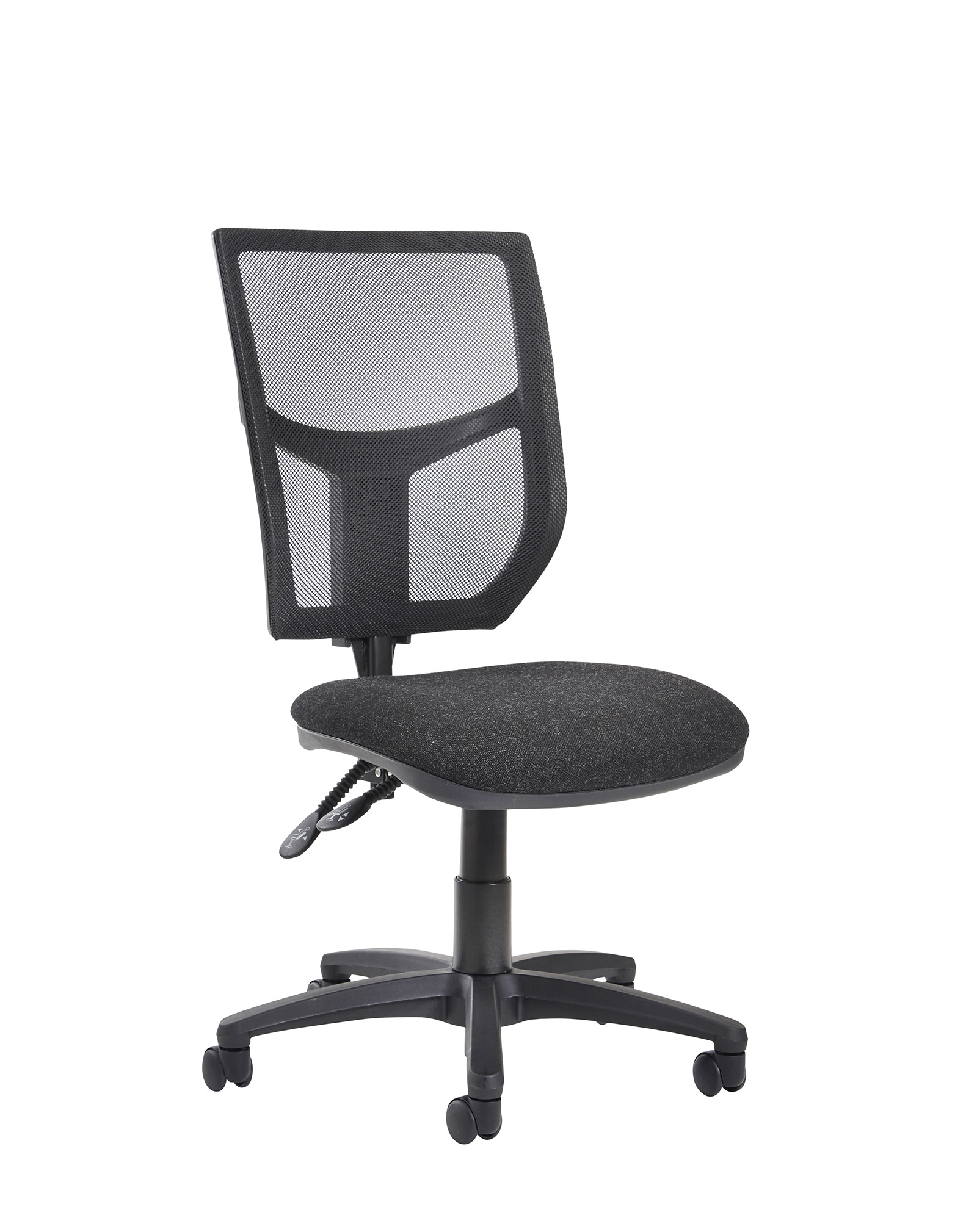 Office Chairs No Arms Altino 2 Lever High Mesh Back Operators Chair With No Arms