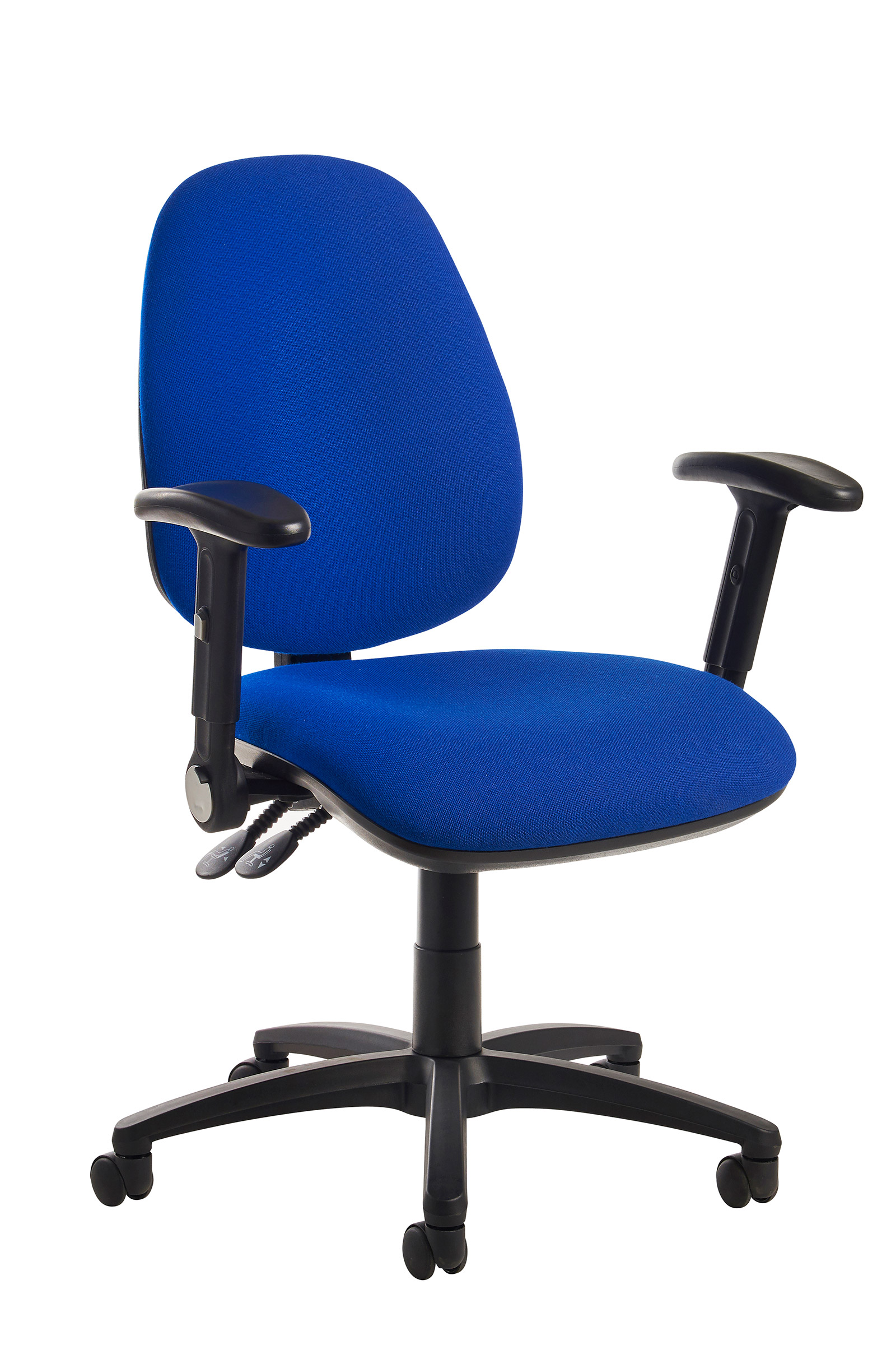 Folding Chair With Arms Jota High Back Operator Chair With Folding Arms Blue